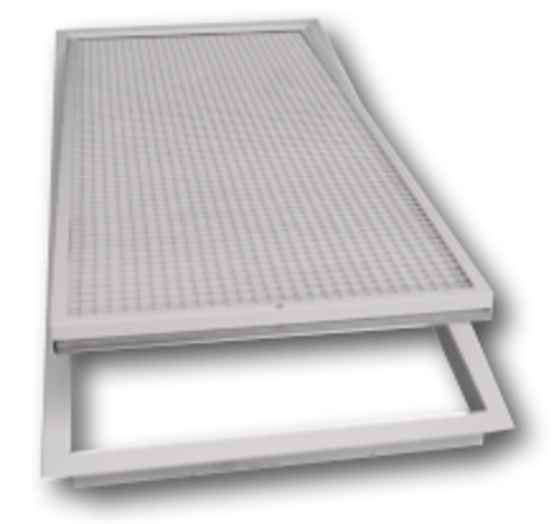Picture of Hinged Return Air Grille c/w Electrostatic Filter