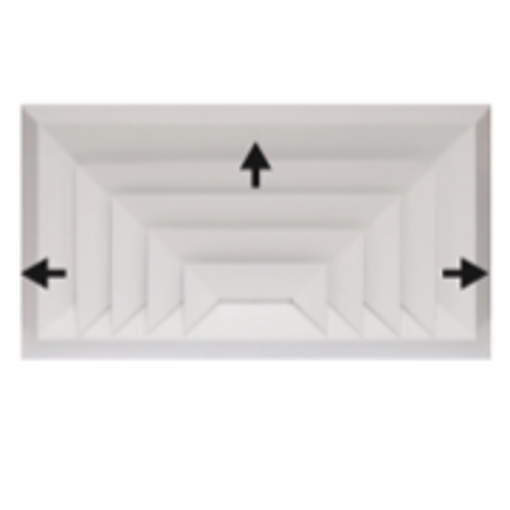 图片 Bevelled Edge 3-Way Rectangular Diffuser